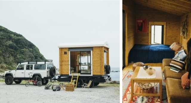 Japanese company creates wooden micro cottages you can tow behind your car【Pics, video】